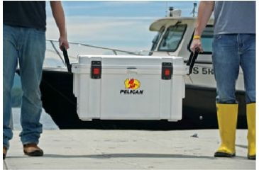 Pelican 65 Quart White Elite Cooler, Lifted 32-65Q-MC-WHT