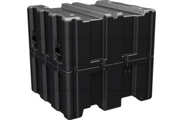 Pelican AL3834-1617 Single Lid Empty Cube Case w/ No Foam, Black AL3834-1617-RP-032