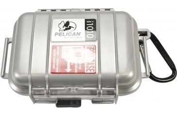 Pelican i1010 iPod Carabiner Loop Silver Protector Case