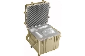 Pelican Large Cube Desert Tan Case 0350 With Foam