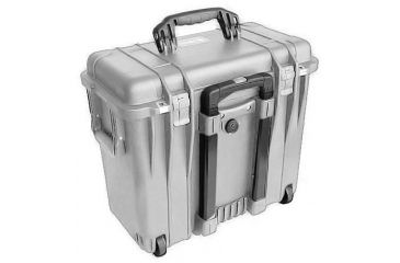 Pelican 1440 Top Loader Medium 20x12x18in Protector Case, Silver w/Office Dividers