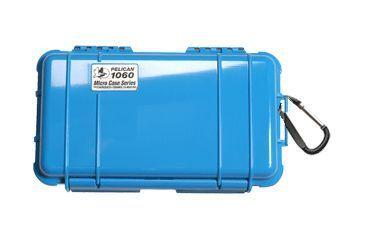 Pelican Micro Case 1060 - Solid Carabiner Loop Blue Dry Box