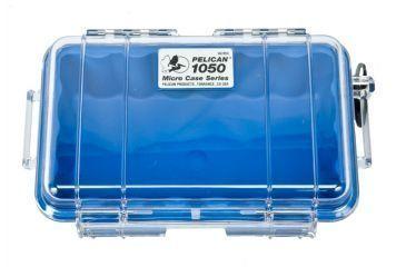 Pelican Micro Case 1050 - Clear Carabiner Loop Blue Dry Box