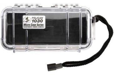 Pelican Micro Case 1030 - Clear Carabiner Loop Black Dry Box