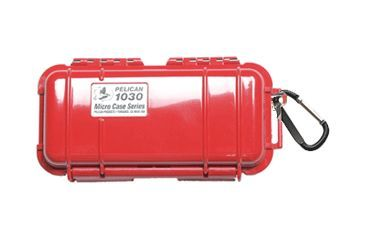 Pelican Micro Case 1030 - Solid Carabiner Loop Red Dry Box