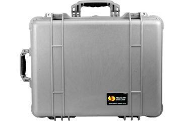 Pelican Silver Waterproof Crushproof Case, Large 1560 with Foam