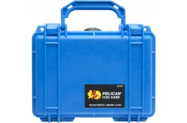 Pelican Small Blue Watertight Crushproof Case 1120NF - No Foam Front