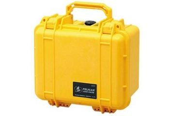 Pelican 1300 Small Watertight Case, Yellow, Foam 1300-000-240