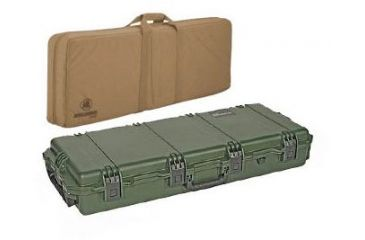 Pelican Storm Cases IM3300 Case, OD Green w/Coyote Tan FieldPak Soft Bag