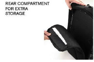 Pelican U100, Backpack, Rear Compartment OU1000-0003-110