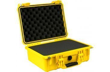 Pelican Yellow Watertight Transort Medium Case 1450 with Foam