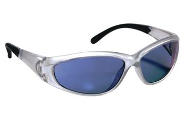 Peltor 3M Tekk Protection Shooting Glasses Blue Mirror Lens/Silver Frame