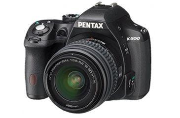 Pentax K-500 Digital SLR Camera with 18-55mm f-3.5-5.6 and 50-200mm f-4-5.6 Lenses, Black 15517