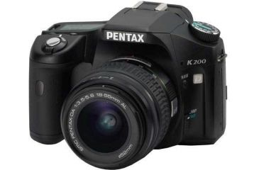 Pentax K200D 10.2 Mega-Pixel Digital SLR Camera Body Kit with 18 - 55mm Lens 19541 19554