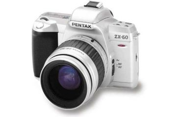 Pentax ZX-60 Date Camera with w/28-90mm Lens, Case, & Battery kit +