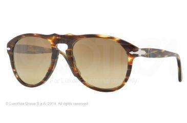 Persol PO0649 Bifocal Prescription Sunglasses PO0649-938-81-52 - Lens Diameter 52 mm, Frame Color Green Gradient Brown
