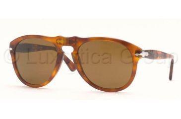 Persol PO0649 Bifocal Prescription Sunglasses PO0649-96-33-5220 - Lens Diameter: 52 mm, Frame Color: Light Havana