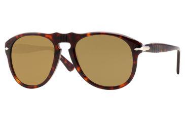 9d344a0eec Persol PO0649 Sunglasses Havana Crystal Brown Polarized