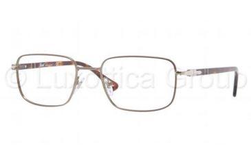 Persol PO2418V Eyeglass Frames 1020-5319 - Matte Brown Frame