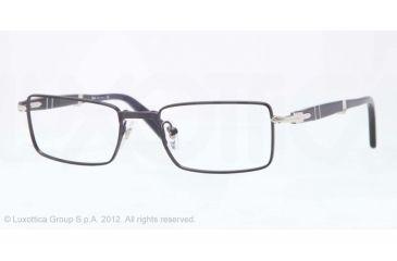Persol PO2425V Single Vision Prescription Eyeglasses 1040-51 - Night Blue Frame, Demo Lens Lenses