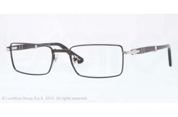 Persol PO2425V Single Vision Prescription Eyeglasses 522-53 - Shiny Black Frame, Demo Lens Lenses