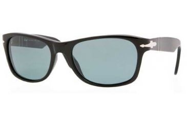 Persol PO2953S Sunglasses 95/58-5318 - Black Crystal Green Polarized