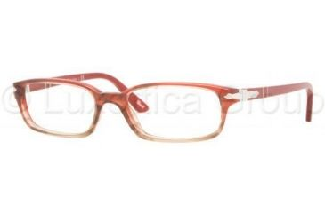Persol PO2973V Single Vision Prescription Eyewear 925-5216 - Red Gradient Brown