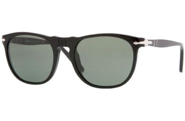 Persol PO2994S Sunglasses, Black with Crystal Green Lenses, 52mm