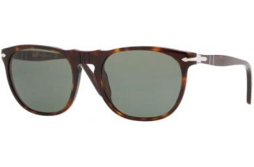 Persol PO2994S Sunglasses, Havana with Crystal Green Lenses, 52mm