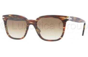 Persol PO2999S Bifocal Prescription Sunglasses PO2999S-938-51-5019 - Lens Diameter: 50 mm, Frame Color: Green Striped Brown