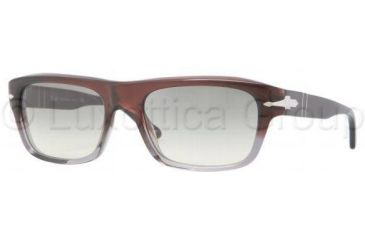 Persol PO3001S Progressive Prescription Sunglasses PO3001S-908-32-5519 - Lens Diameter: 55 mm, Frame Color: Brown Red Grad. Smoke