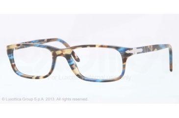 Persol PO3005V Progressive Prescription Eyeglasses 973-51 - Brown Spotted Blue Frame