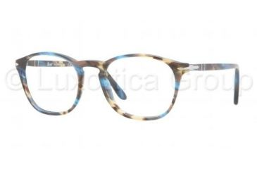 Persol PO3007V Prescription Eyeglasses 973-4819 - Spotted Brown Frame, Demo Lens Lenses