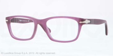 Persol PO3012V Prescription Eyeglasses 990-52 - Matte Violet Frame, Demo Lens Lenses