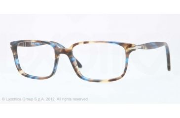 Persol PO3013V Bifocal Prescription Eyeglasses 973-51 - Brown/blu Frame, Demo Lens Lenses