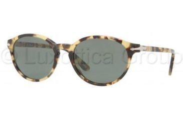Persol PO3015S Bifocal Prescription Sunglasses PO3015S-124-31-5118 - Lens Diameter 51 mm, Frame Color Spotted Light Havana