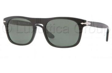Persol PO3018S Single Vision Prescription Sunglasses PO3018S-95-31-5320 - Frame Color Black, Lens Diameter 53 mm