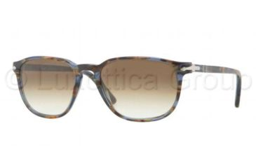 Persol PO3019S Sunglasses 944/51-5518 - Blue Striped Horn Frame, Crystal Brown Gradient Lenses