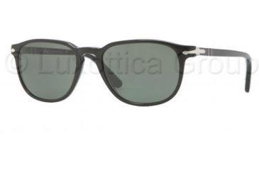 Persol PO3019S Single Vision Prescription Sunglasses PO3019S-95-31-5218 - Lens Diameter 52 mm, Frame Color Black