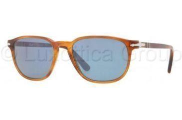 Persol PO3019S Single Vision Prescription Sunglasses PO3019S-96-56-5218 - Lens Diameter 52 mm, Frame Color Light Havana