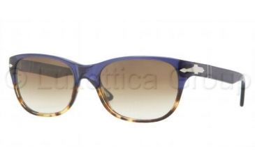 Persol PO3020S Bifocal Prescription Sunglasses PO3020S-955-51-5418 - Lens Diameter 54 mm, Frame Color Havana / Blue Crystal