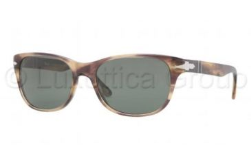 Persol PO3020S Bifocal Prescription Sunglasses PO3020S-980-31-5418 - Lens Diameter 54 mm, Frame Color Stripped Brown