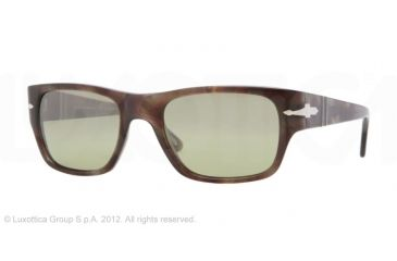 Persol PO3021S Bifocal Prescription Sunglasses PO3021S-972-83-53 - Lens Diameter 53 mm, Lens Diameter 53 mm, Frame Color Havana Brown