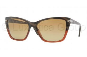 Persol PO3023S Progressive Prescription Sunglasses PO3023S-953-85-5616 - Lens Diameter 56 mm, Frame Color Dark Horn Red