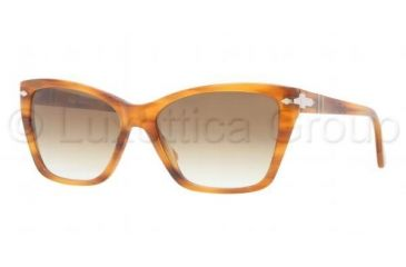 Persol PO3023S Progressive Prescription Sunglasses PO3023S-960-51-5616 - Lens Diameter 56 mm, Frame Color Stripped Brown