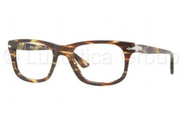 Persol PO3029V Eyeglass Frames 938-5019 - Green Striped Brown Frame