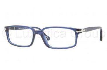 Persol PO3032V Single Vision Prescription Eyeglasses 181-5317 - Blue Frame