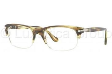 Persol PO3033V Progressive Prescription Eyeglasses 967-5018 - Spotted Green Frame