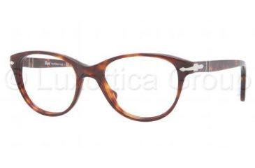 d3c177e6d7 Persol PO3036V Single Vision Prescription Eyeglasses 24-5019 - Havana Frame
