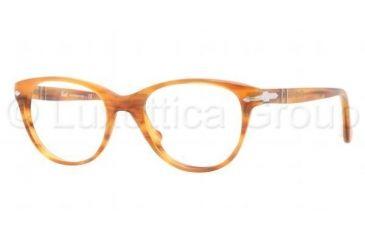 Persol PO3036V Bifocal Prescription Eyeglasses 960-4819 - Stripped Brown Frame, Demo Lens Lenses